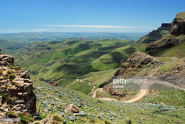 sani pass - mountain pass stock pictures, royalty-free photos & images