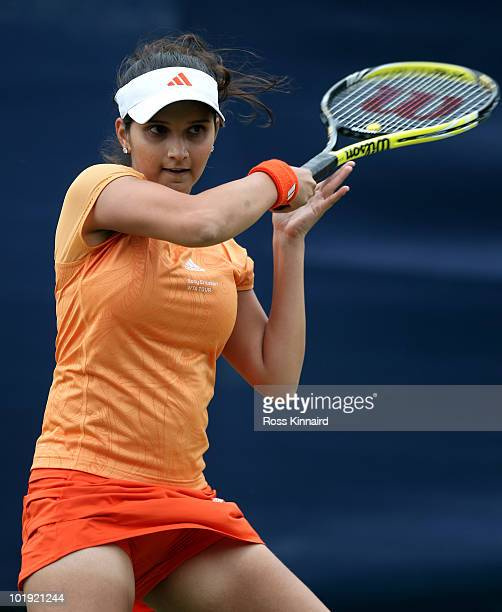 Sania Mirza if India during the second round match match at The AEGON Classic between Sania Mirza and Tamarine Tanasugarn at the Edgbaston Priory...