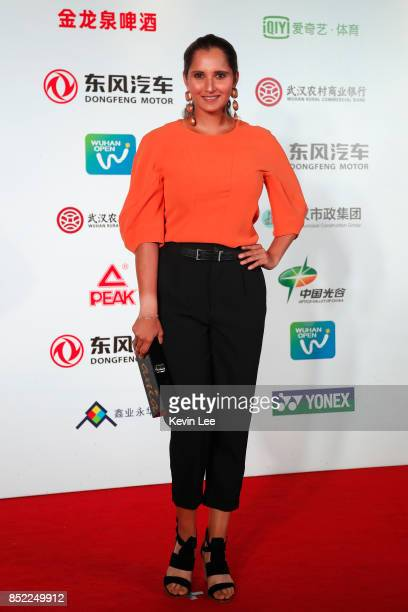 Sania Mirza of India poses for a picture at a party of 2017 DONGFENG MOTOR WUHAN OPEN on September 23 2017 in Wuhan China