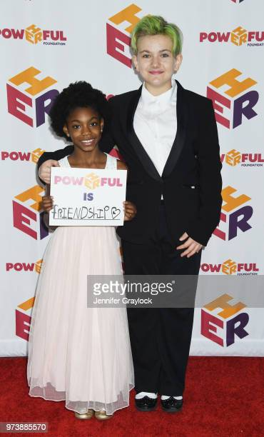 Saniah Reese and DJ Wild Child attend the PowHERful Benefit Gala on June 13 2018 at Tribeca Rooftop in New York City