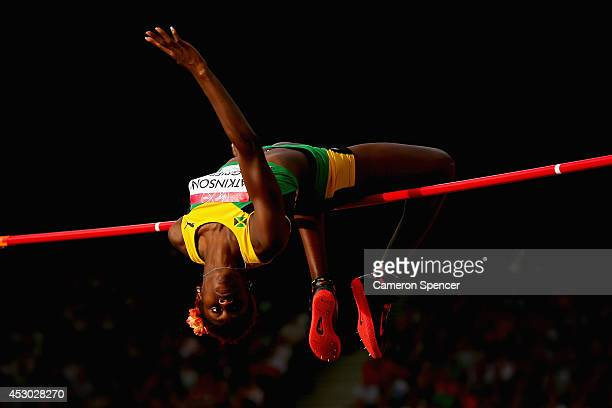 Saniel AtkinsonGrier of Jamaica competes in the Women's High Jump final at Hampden Park during day nine of the Glasgow 2014 Commonwealth Games on...