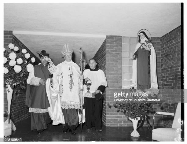 Sanitarium Dedication 30 September 1951 Mother MaryMonsignor Fidencio EsparzaArchbishop J Francis A McIntyreMonsignor Thomas J O'DwyerFather Arthur...