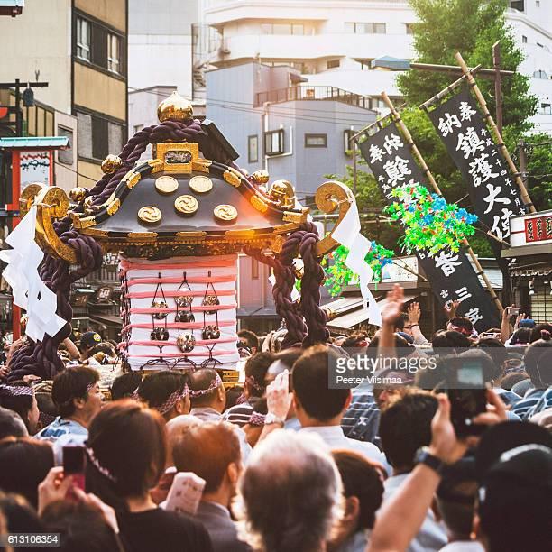 Sanja Festival in Asakusa. Tokyo, Japan.