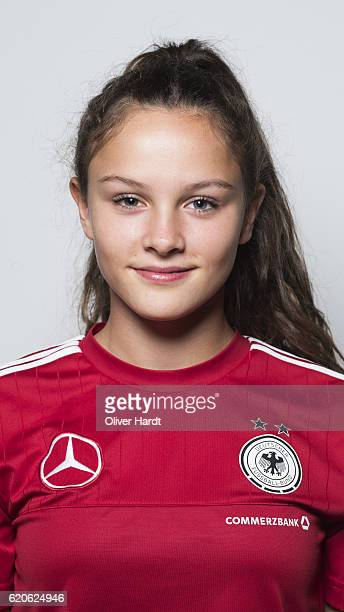 Sanja Homann of Germany poses during the photocall at U16 Girl's Germany Team Presentation on November 2 2016 in Flensburg Germany