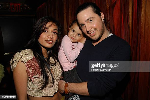 Sanjana Jon, Tiger Lily and Maximillian Tucci attend Anand Jon Runway Show at Fizz on February 8, 2006 in New York.