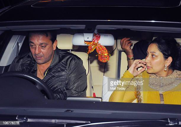 Sanjay and Manyata Dutt at Baba Dewan�s Birthday party in Mumbai on November 11 2010