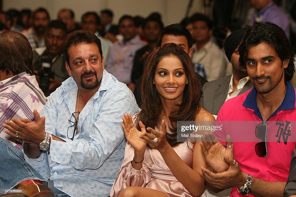 Sanjay Dutt Bipasha Basu and Kunal Kapoor at the IIFA awards in Colombo on June 4 2010