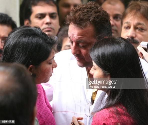 Sanjay Dutt, Bollywood actor with his sisters Priya Dutt ...