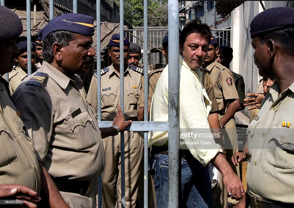 Sanjay Dutt leaving TADA court during trial for the 1993 Mumbai blast on March 1, 2007 in Mumbai, India. On March 21, 2013 after 20-year-long judicial proceedings in 1993 Mumbai Serial Bomb Blasts Case, Supreme Court upheld the death sentence of Yakub Abdul Razak Memon, a key conspirator with Dawood Ibrahim in the 1993 Mumbai serial blasts, and ordered that Bollywood actor Sanjay Dutt return to jail to serve three-and-a-half years sentence for possessing illegal arms. 257 people were killed in serial blasts in Mumbai on March 12, 1993.