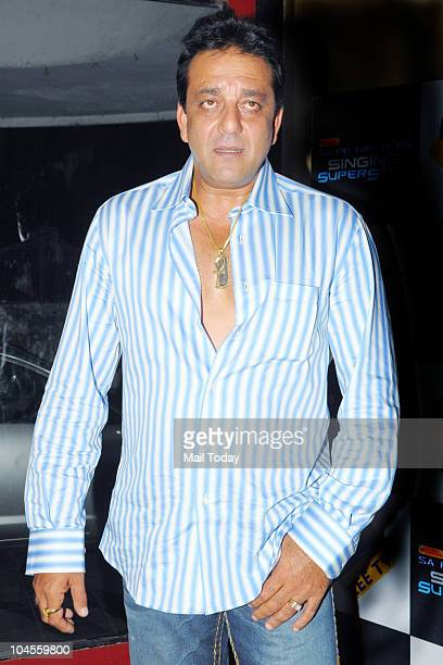 Sanjay Dutt on the sets of the reality show 'Sa Re Ga Ma Pa' in Mumbai on September 28 2010