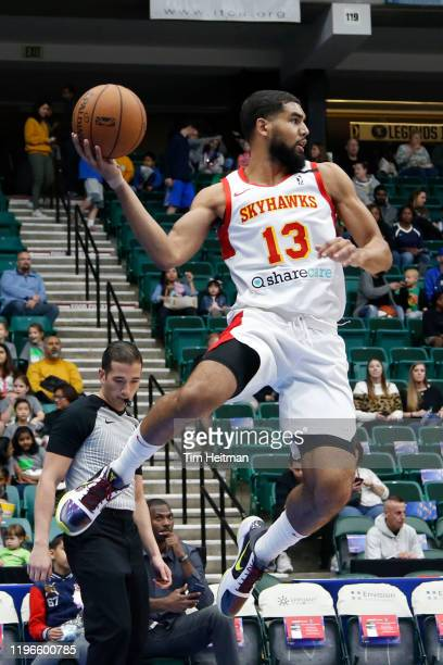 Sanjay Lumpkin of the College Park Skyhawks saves a ball during the first quarter against the Texas Legends on January 26 2020 at Comerica Center in...
