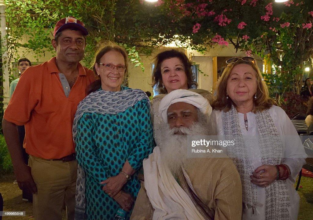 Sadhguru Jaggi Vasudev Of The Isha Foundation Tees Off For Isha Vidhya : News Photo