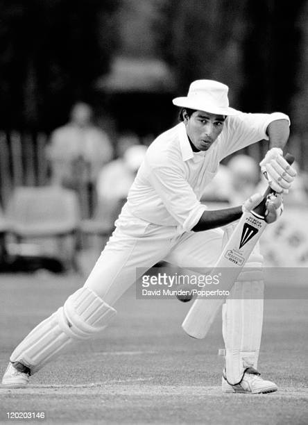 Sanjay Manjrekar batting for India circa 1990
