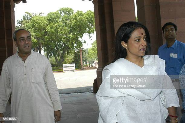 Sanjay Singh Congress Leader with Amrita at Parliament House in New Delhi India