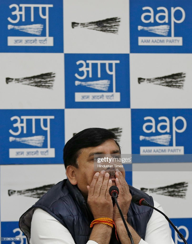 IND: Press Conference Of AAP Rajya Sabha MP Sanjay Singh