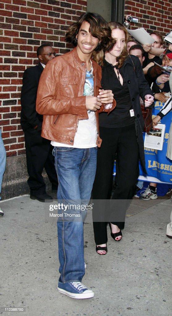 "Sanjaya Malakar Visits ""The Late Show With David Letterman"" - April 23, 2007"