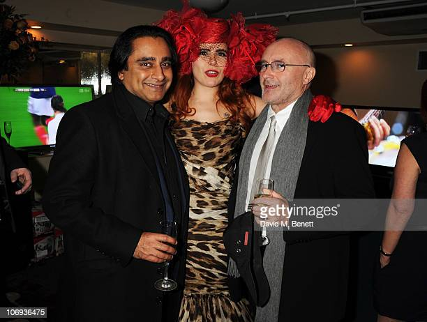 Sanjeev Bhasker Paloma Faith and Phil Collins attend The Prince's Trust Rock Gala 2010 supported by Novae at The Royal Albert Hall on November 17...