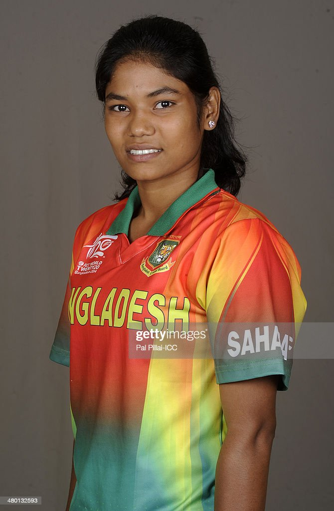 Sanjida Islam of Bangladesh poses for a portrait during the women's headshot session before the start of the ICC Women's World T20 at the Sylhet...