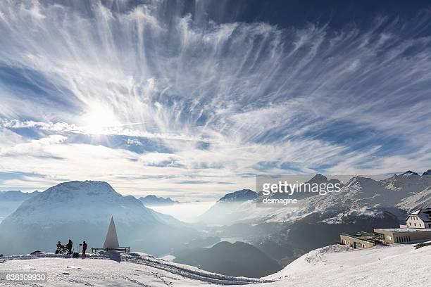 Sankt Moritz view, canton Graubünden, Switzerland.