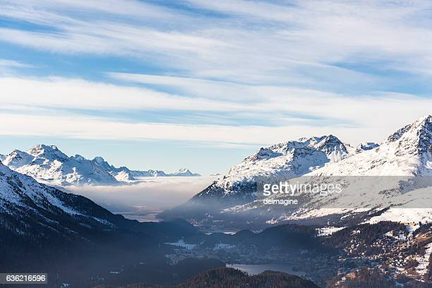 Sankt Moritz view, Canton Grigioni, Switzerland.