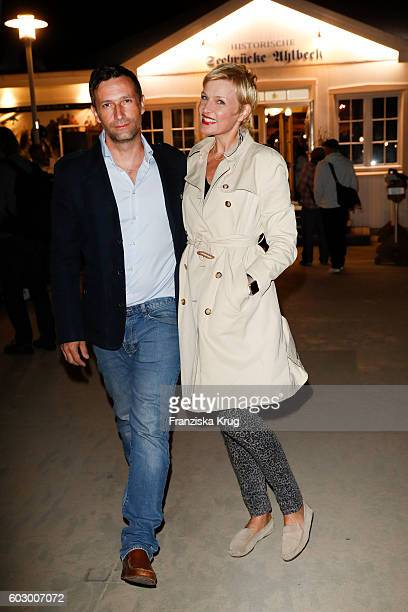 Sanna Englund and her friend Tom Kerschke attend the Till Demtroders CharityEvent 'Usedom Cross Country' on September 10 2016 near Heringsdorf in...