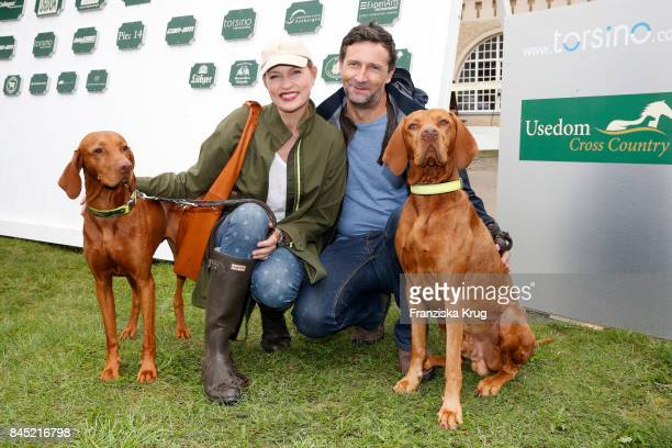 Sanna Englund and her husband Marco Fischer attend the Till Demtroeders CharityEvent 'Usedom Cross Country' at Schloss Stolpe on September 9 2017...