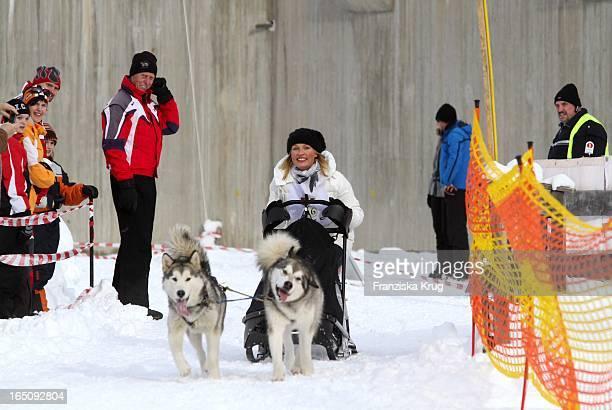 Sanna Englund Beim 1 Promi Schlittenhunderennen Tirol Cross Mountain In Kühtai