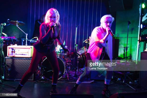 Sanna Kalla and Rebecka Digervall of The Magnettes perform at Door 77 on May 10 2019 in Brighton England