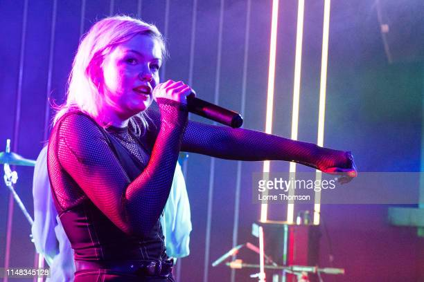 Sanna Kalla of The Magnettes performs at Door 77 on May 10, 2019 in Brighton, England.