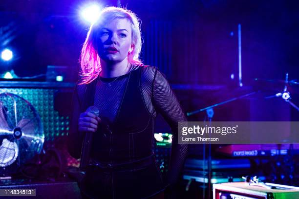 Sanna Kalla of The Magnettes performs at Door 77 on May 10 2019 in Brighton England