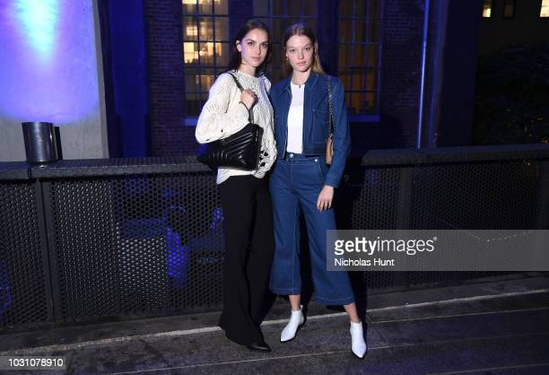 Sanne De Roo and Roos Abels attendthe screening of the rag bone film Time Of Day at The High Line on September 10 2018 in New York City