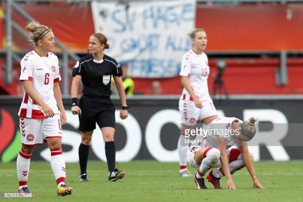 Sanne Troelsgaard Nielsen of Denmark looks dejected during the Final of the UEFA Women's Euro 2017 between Netherlands v Denmark at FC Twente Stadium...