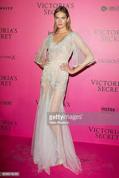 Sanne Vloet attends '2016 Victoria's Secret Fashion Show' after show photocall at Le Grand Palais on November 30 2016 in Paris France