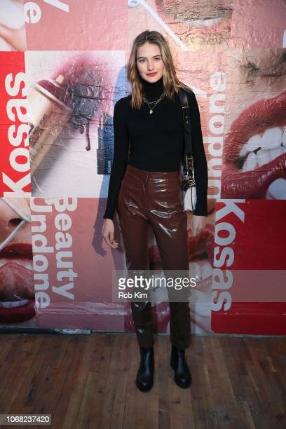 Sanne Vloet attends Kosas Beauty Undone New York Launch Party at 85 Mercer Street on November 15 2018 in New York City