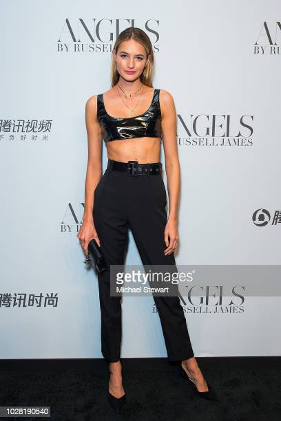 Sanne Vloet attends the Russell James 'Angels' book launch & exhibit at Stephan Weiss Studio on September 6, 2018 in New York City.
