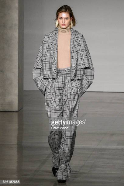 Sanne Vloet walks at the Zimmermann Ready to Wear fashion show during New York Fashion Week Fall Winter 20172018 on February 13 2017 in New York City