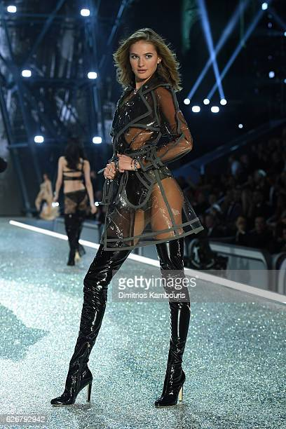 Sanne Vloet walks the runway during the 2016 Victoria's Secret Fashion Show on November 30 2016 in Paris France