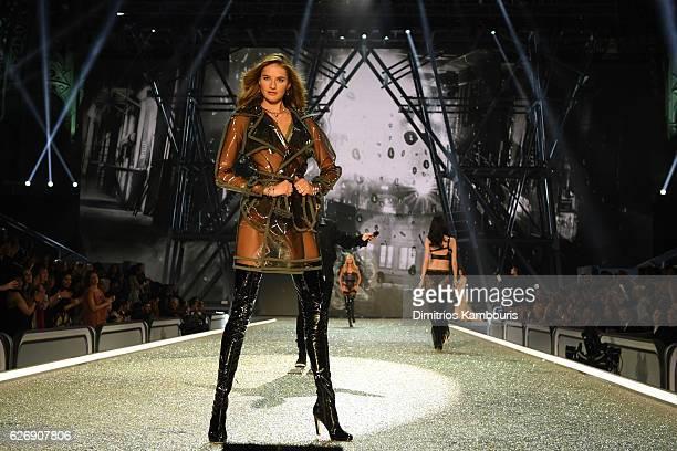 Sanne Vloet walks the runway during the 2016 Victoria's Secret Fashion Show on November 30 2016 in Paris France
