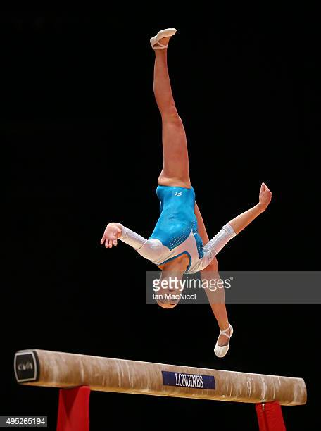 Sanne Wevers of Netherlands competes on the Beam during day ten of The World Artistic Gymnastics Championships at The SSE Hydro on November 01 2015...