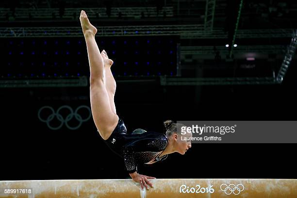 Sanne Wevers of the Netherlands competes in the Balance Beam Final on day 10 of the Rio 2016 Olympic Games at Rio Olympic Arena on August 15 2016 in...