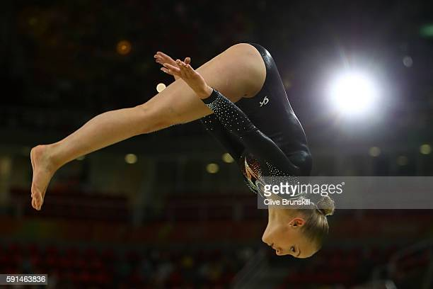 Sanne Wevers of the Netherlands performs on the beam during the Gymnastics Rio Gala on Day 12 of the 2016 Rio Olympic Games on August 17 2016 in Rio...