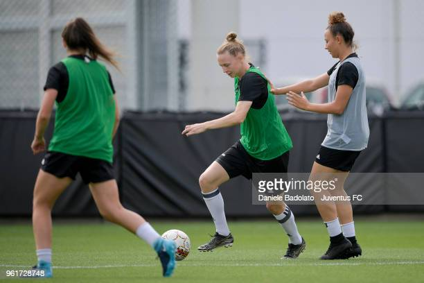 Sanni Franssi during the Juventus Women training session on May 23 2018 in Turin Italy