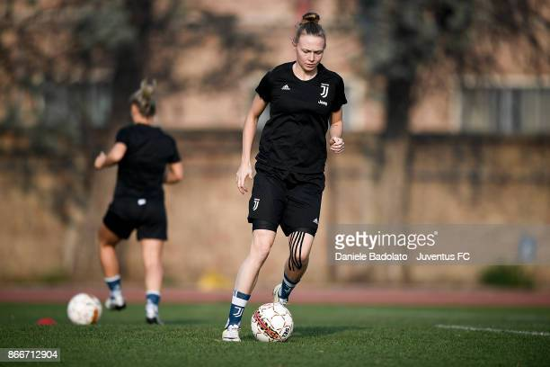 Sanni Maija Franssi during a Juventus Women training session on October 26 2017 in Turin Italy