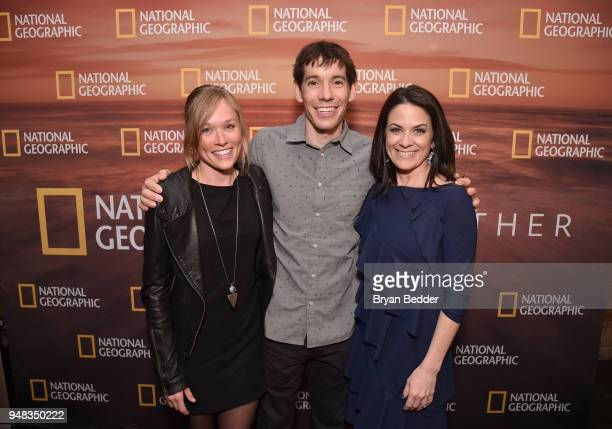Sanni McCandless 2018 National Geographic Adventurer of the Year Alex Honnold of 'Free Solo' and CEO of National Geographic Global Networks Courteney...