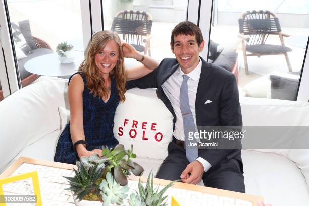 "Sanni McCandless and Alex Honnold at the 2018 Toronto Film Festival Premiere of National Geographic Documentary Films' ""Free Solo"""