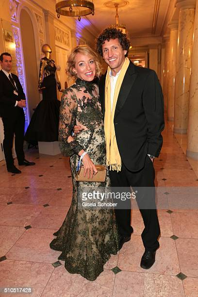 Sanny van Heteren and her boyfriend Inaki Lopez during the Cinema For Peace Gala 2016 during the 66th Berlinale International Film Festival on...