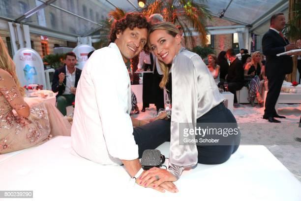 Sanny van Heteren and her boyfriend Inaki Lopez Esparza during the Raffaello Summer Day 2017 to celebrate the 27th anniversary of Raffaello at...