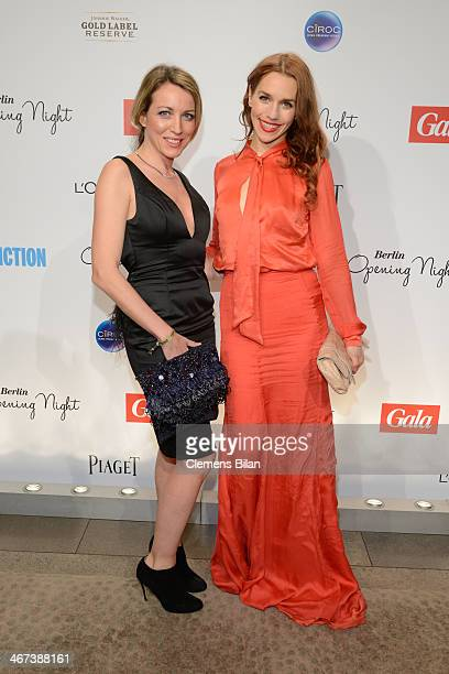 Sanny van Heteren and Julia Dietze attends the Berlin Opening Night Of Gala Ufa Fiction during the 64th Berlinale International Film Festival at...