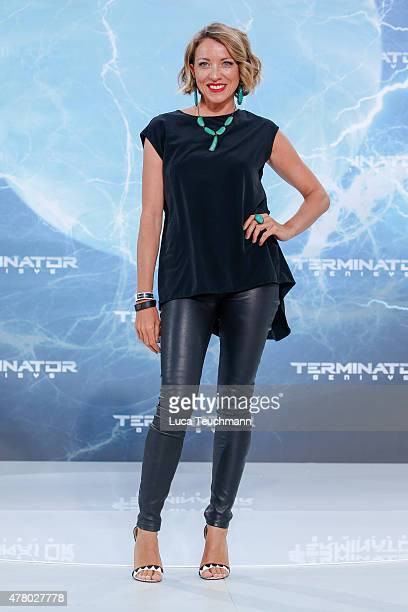 Sanny van Heteren arrives at the European Premiere of 'Terminator Genisys' at the CineStar Sony Center on June 21 2015 in Berlin Germany