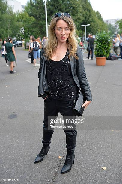Sanny van Heteren attend the Rebekka Ruetz show during the MercedesBenz Fashion Week Spring/Summer 2015 at Erika Hess Eisstadion on July 8 2014 in...